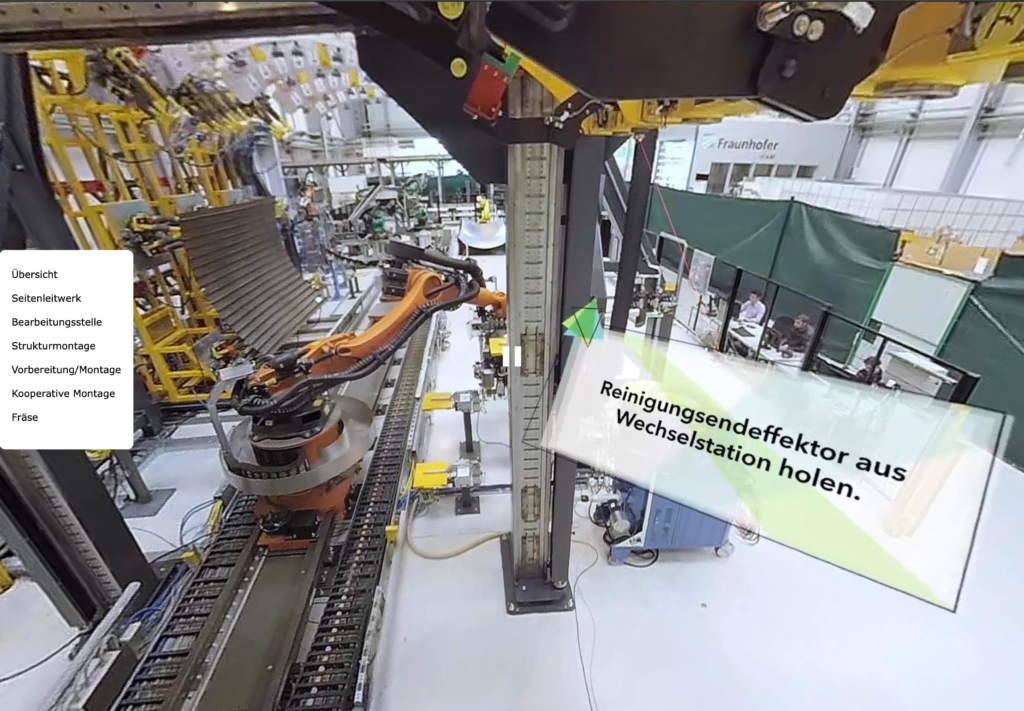 Interaktiver 360°-Video-Player für Hexagon / Fraunhofer IFAM