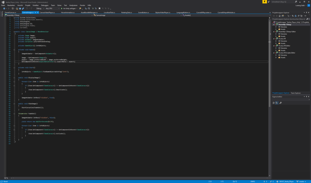 Programmierung in Visual Studio